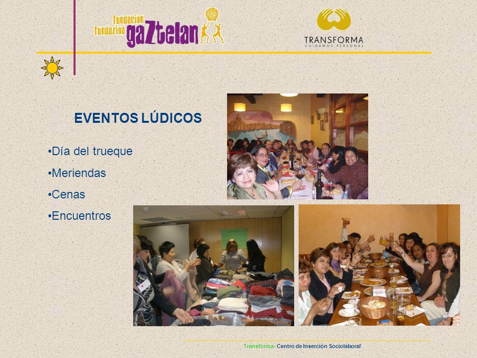 EVENTOS LÚDICOS Día del trueque Meriendas Cenas Encuentros