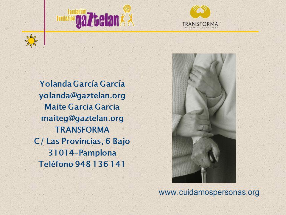 Yolanda García García yolanda@gaztelan.org Maite Garcia Garcia