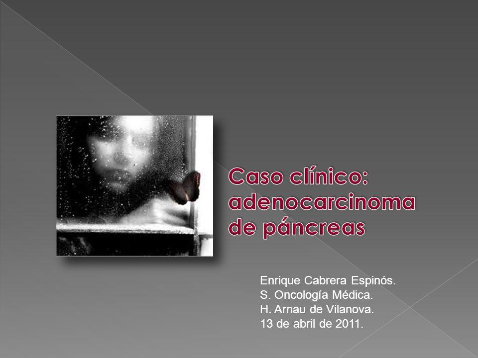 Caso clínico: adenocarcinoma de páncreas