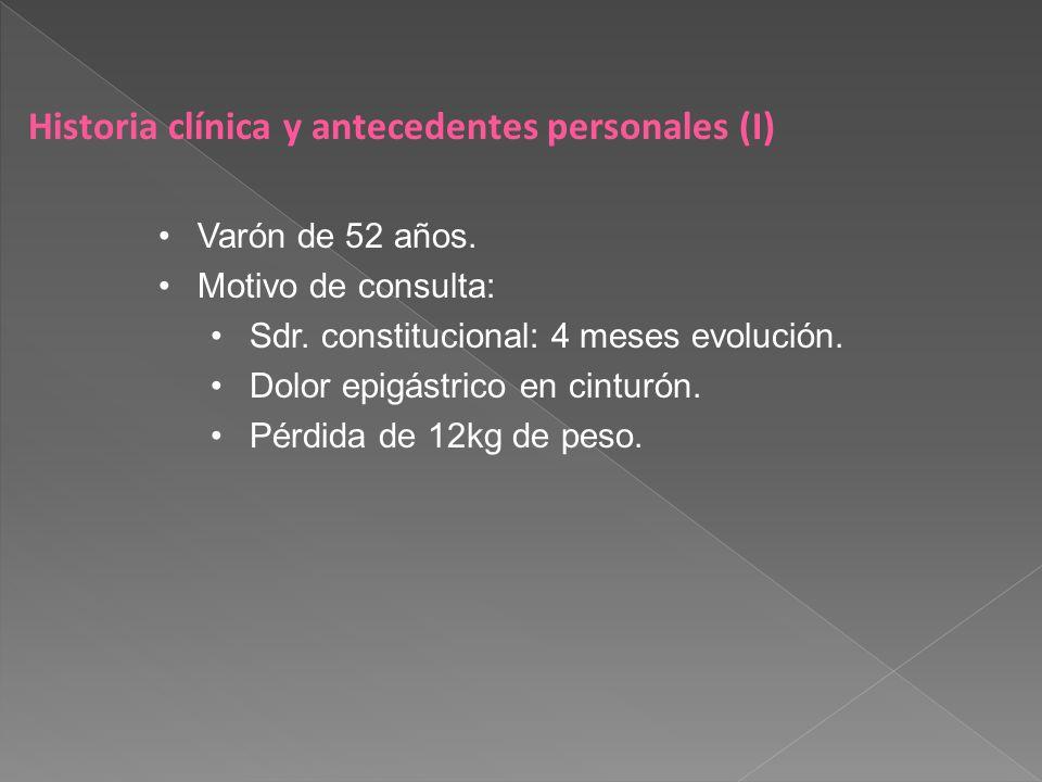Historia clínica y antecedentes personales (I)
