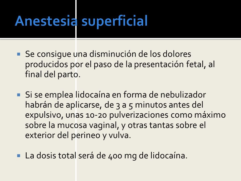 Anestesia superficial