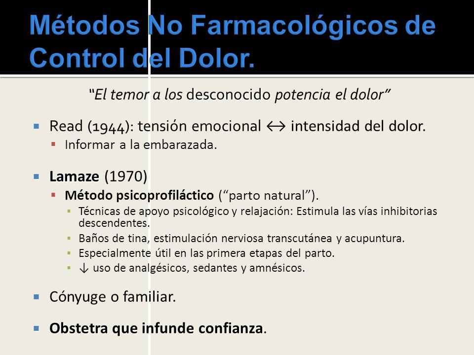 Métodos No Farmacológicos de Control del Dolor.