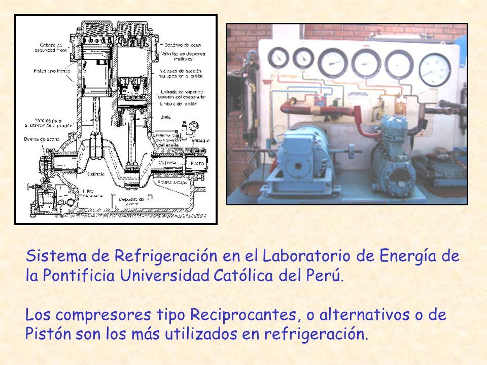 Sistema de Refrigeración en el Laboratorio de Energía de la Pontificia Universidad Católica del Perú.