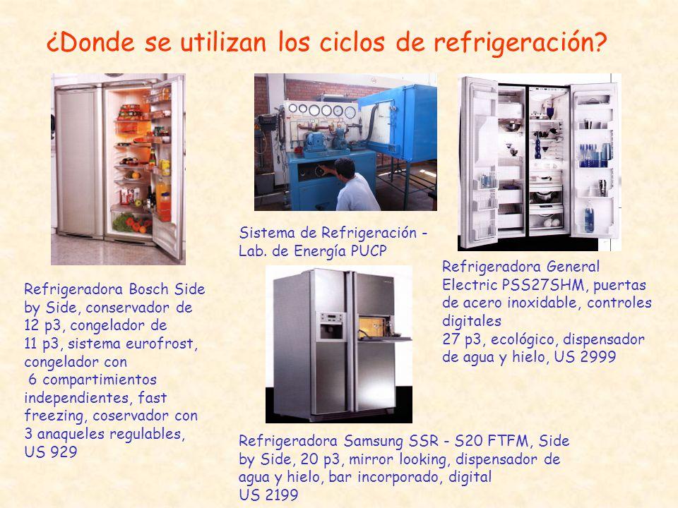 ¿Donde se utilizan los ciclos de refrigeración