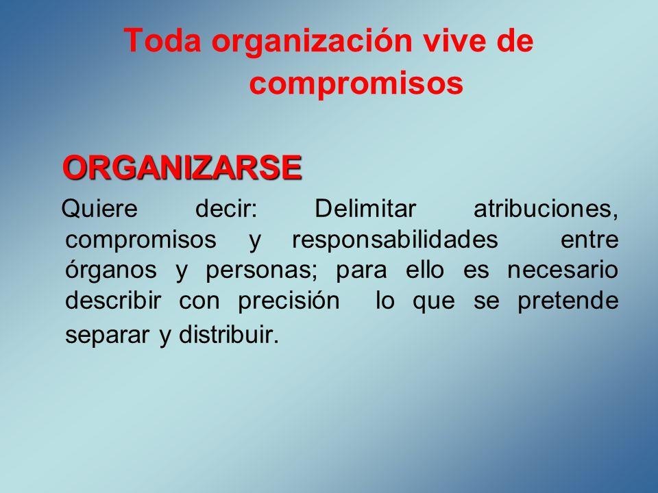 Toda organización vive de compromisos