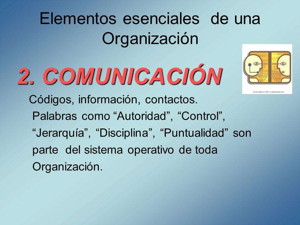 Elementos esenciales de una Organización