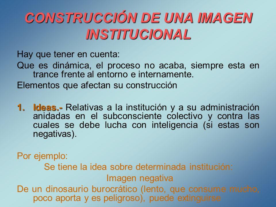 CONSTRUCCIÓN DE UNA IMAGEN INSTITUCIONAL