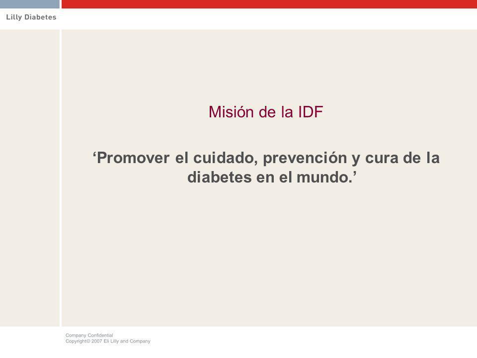 'Promover el cuidado, prevención y cura de la diabetes en el mundo.'