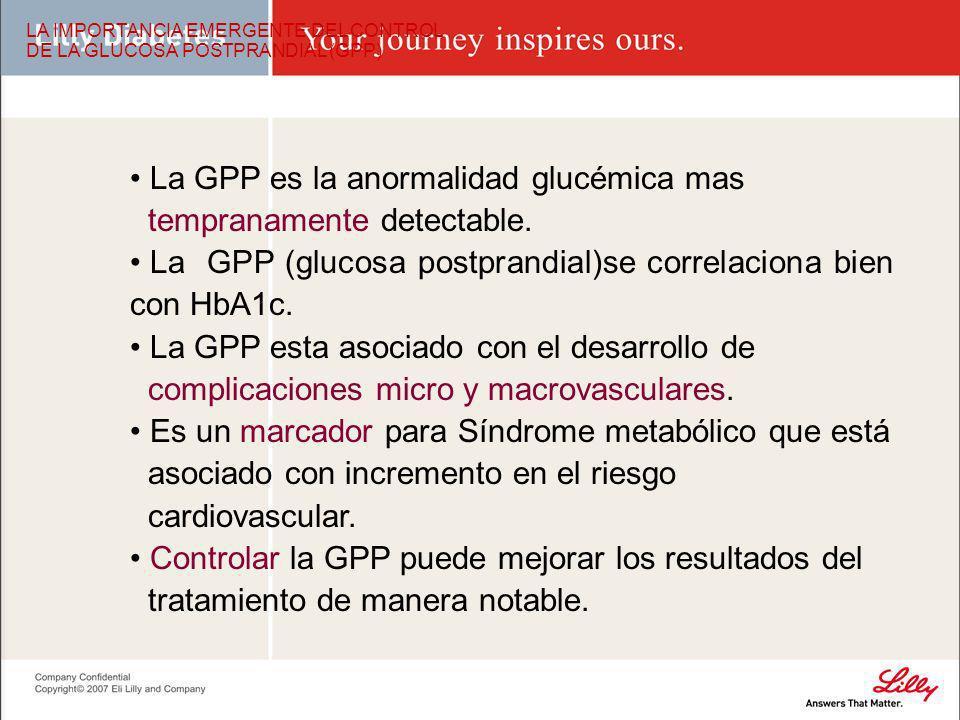 La GPP es la anormalidad glucémica mas tempranamente detectable.