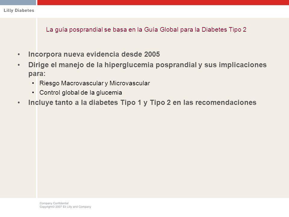La guía posprandial se basa en la Guía Global para la Diabetes Tipo 2