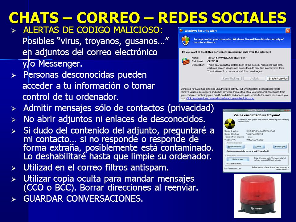 CHATS – CORREO – REDES SOCIALES