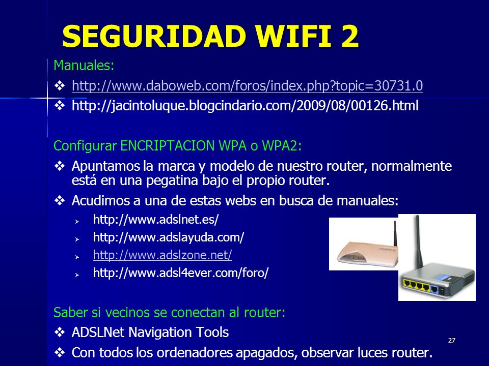 SEGURIDAD WIFI 2 Manuales: