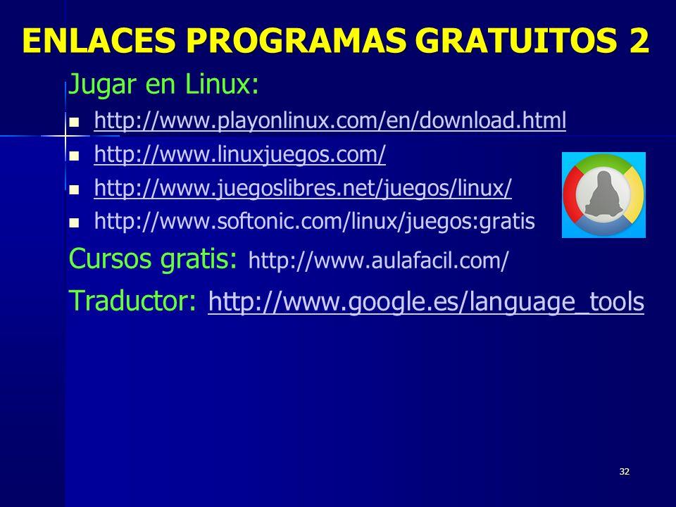 ENLACES PROGRAMAS GRATUITOS 2