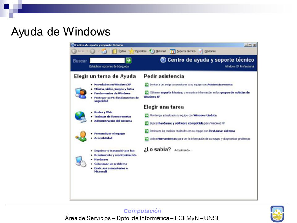 Ayuda de Windows