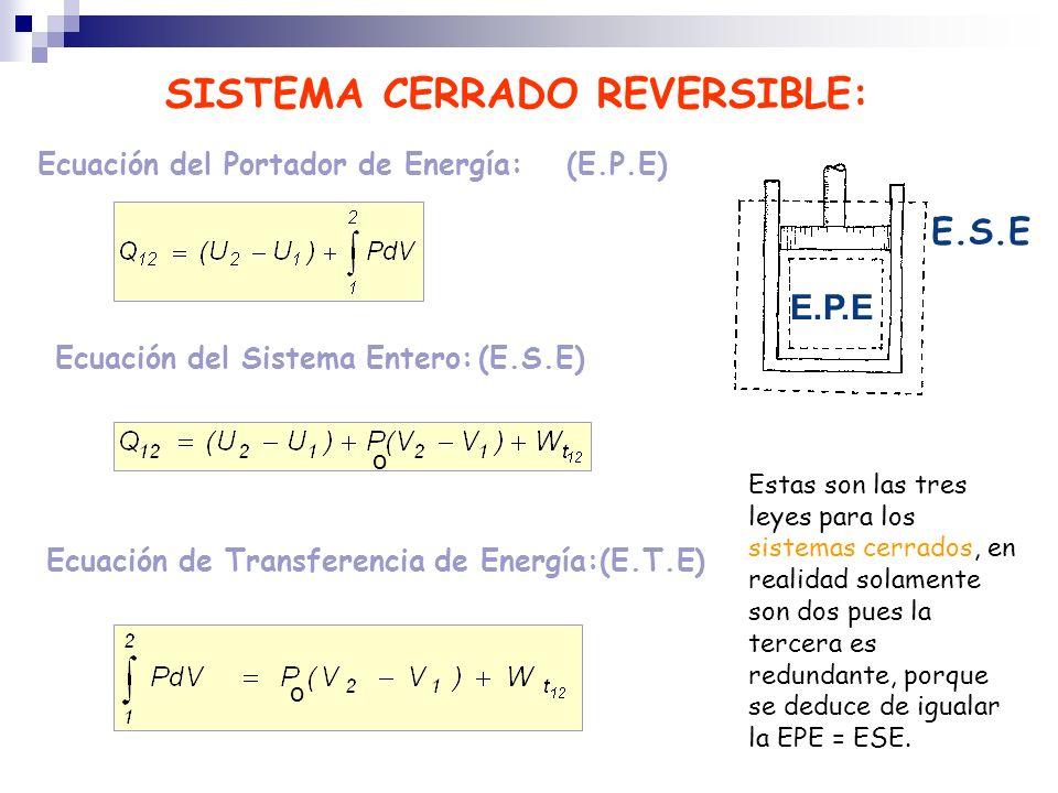 SISTEMA CERRADO REVERSIBLE: