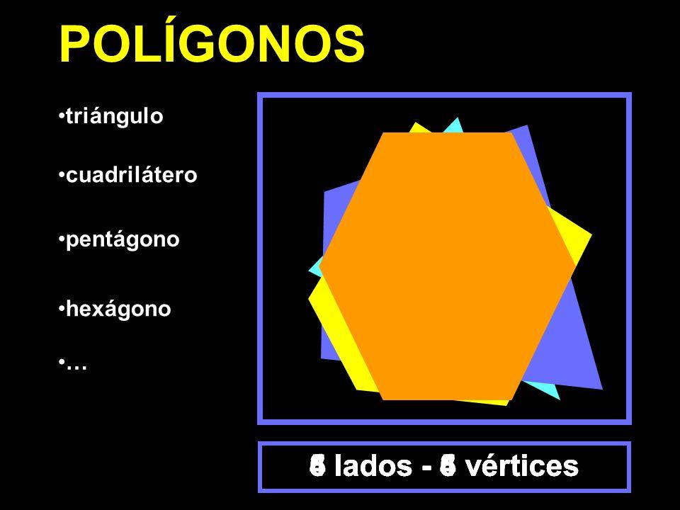 POLÍGONOS 6 lados - 6 vértices 3 lados - 3 vértices