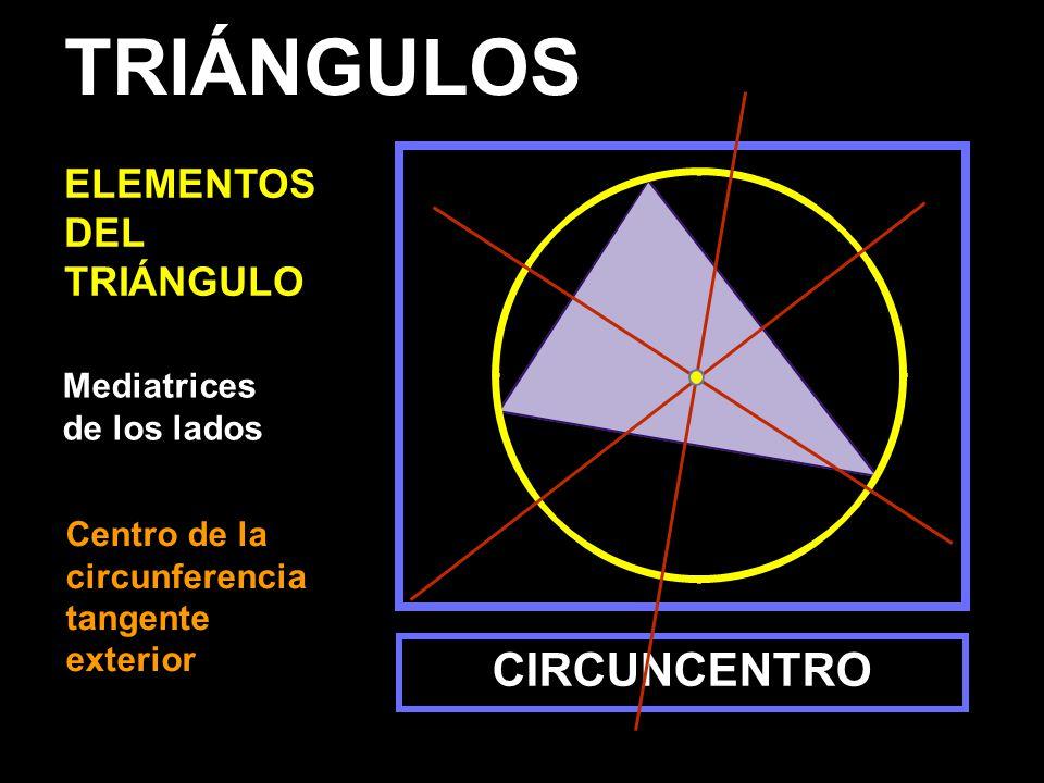 TRIÁNGULOS CIRCUNCENTRO ELEMENTOS DEL TRIÁNGULO