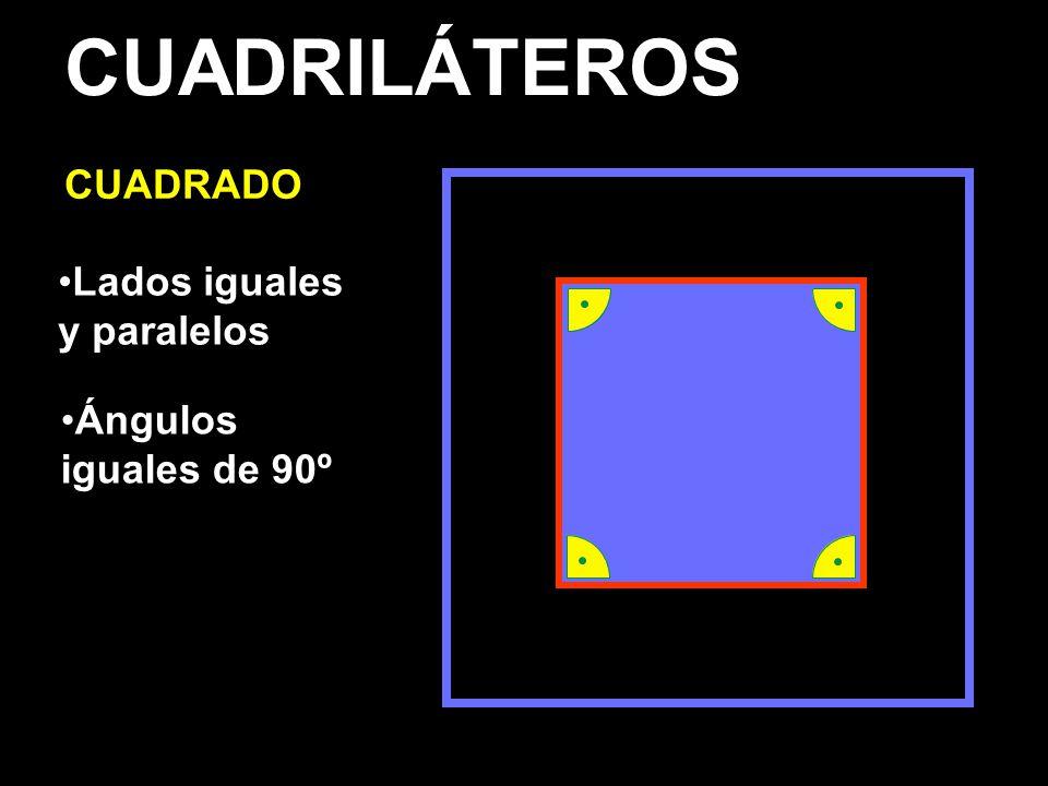 CUADRILÁTEROS CUADRADO Lados iguales y paralelos