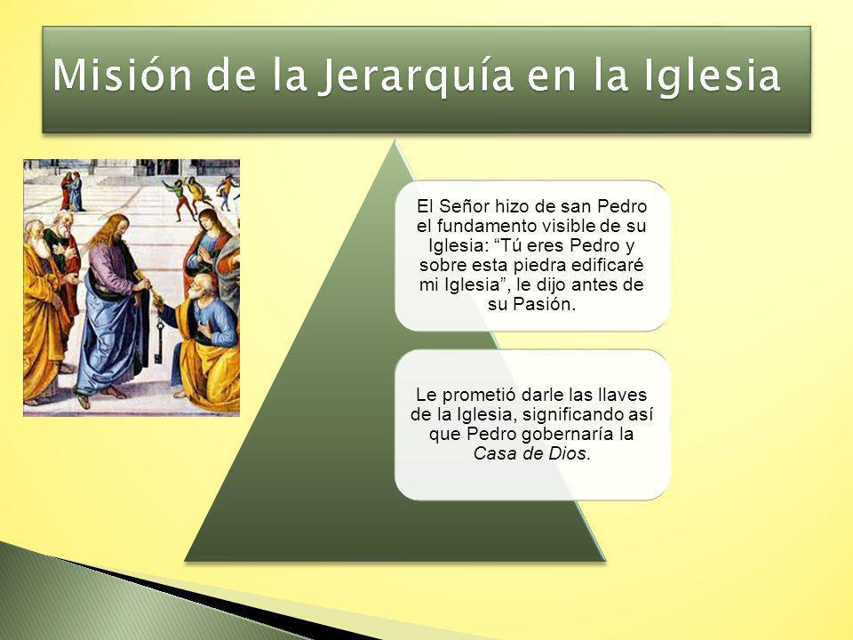Misión de la Jerarquía en la Iglesia