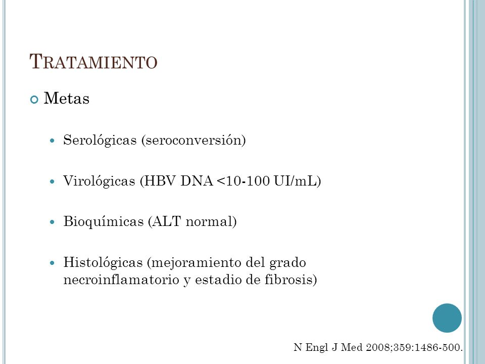 Tratamiento Metas Serológicas (seroconversión)