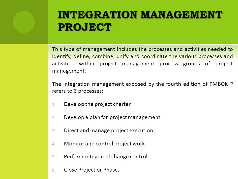 project integration management process pdf