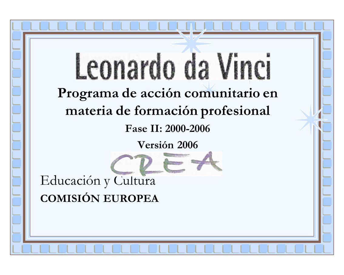 Programa de acción comunitario en materia de formación profesional