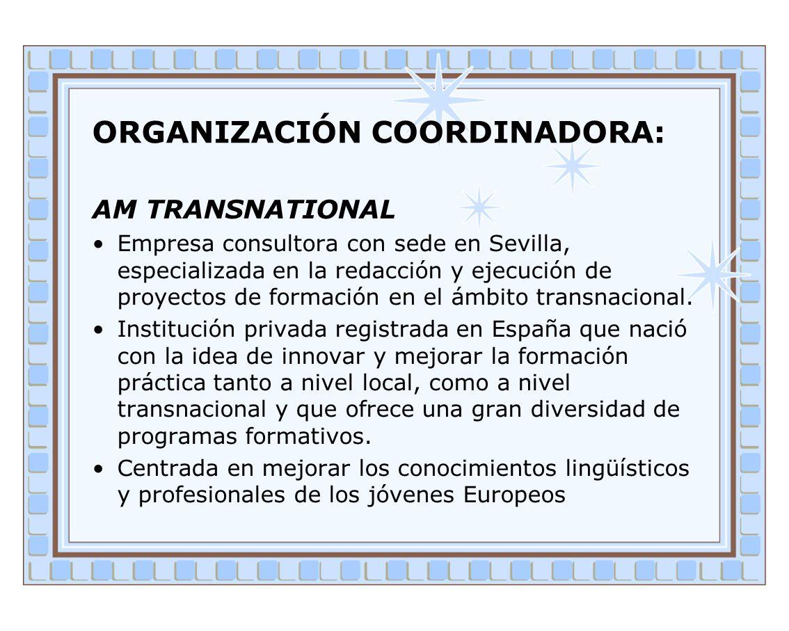 ORGANIZACIÓN COORDINADORA: