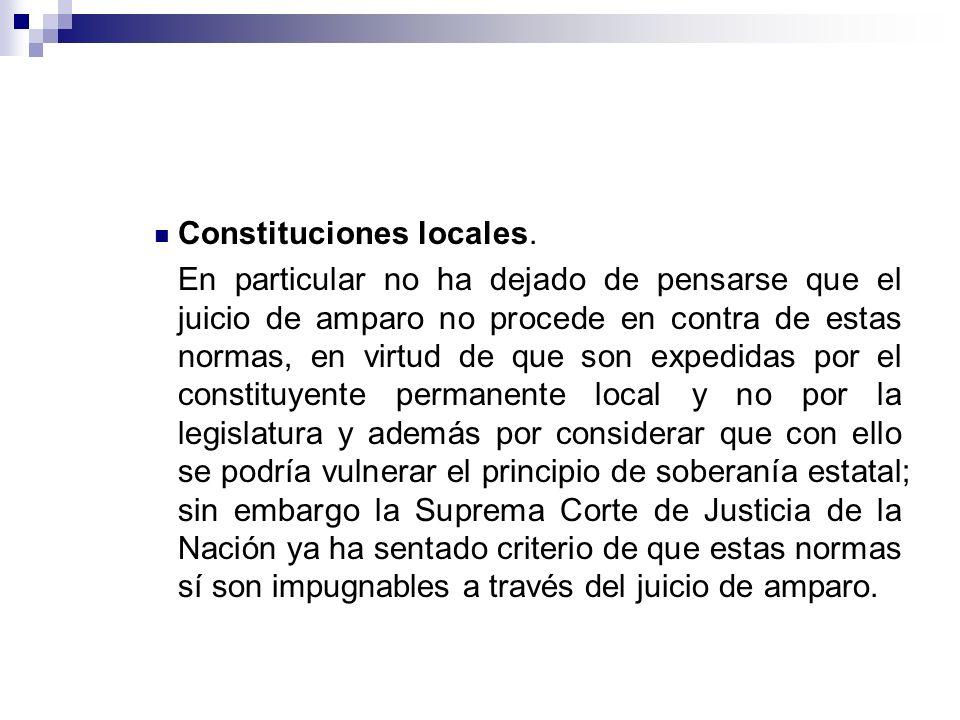 Constituciones locales.
