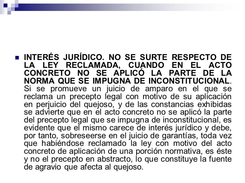 INTERÉS JURÍDICO.