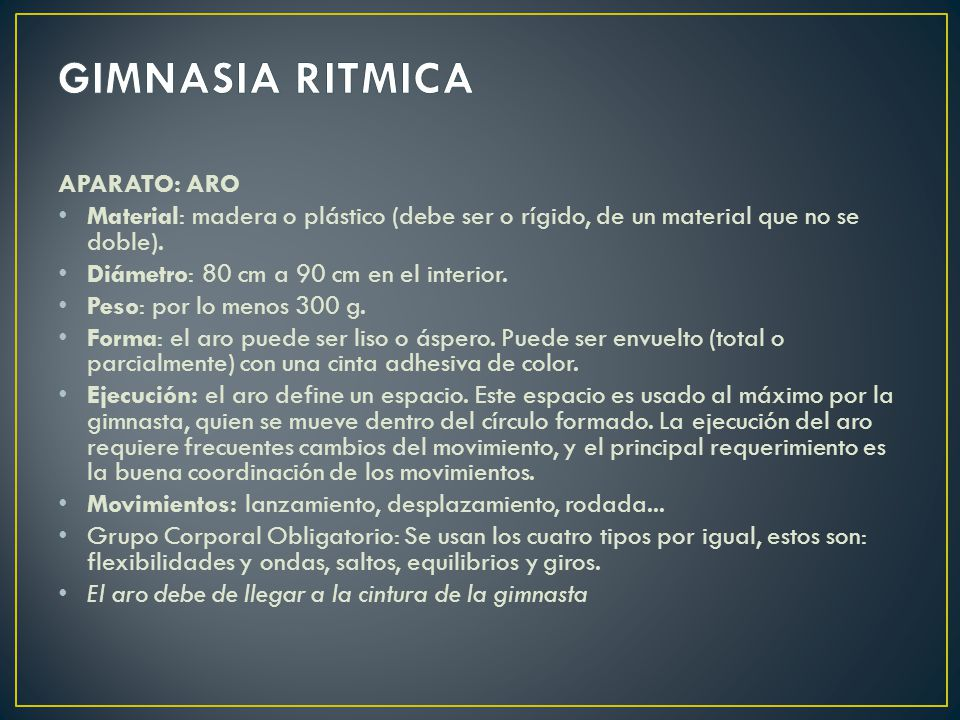 Gimnasia ritmica aparato aro ppt video online descargar for Concepto de gimnasia