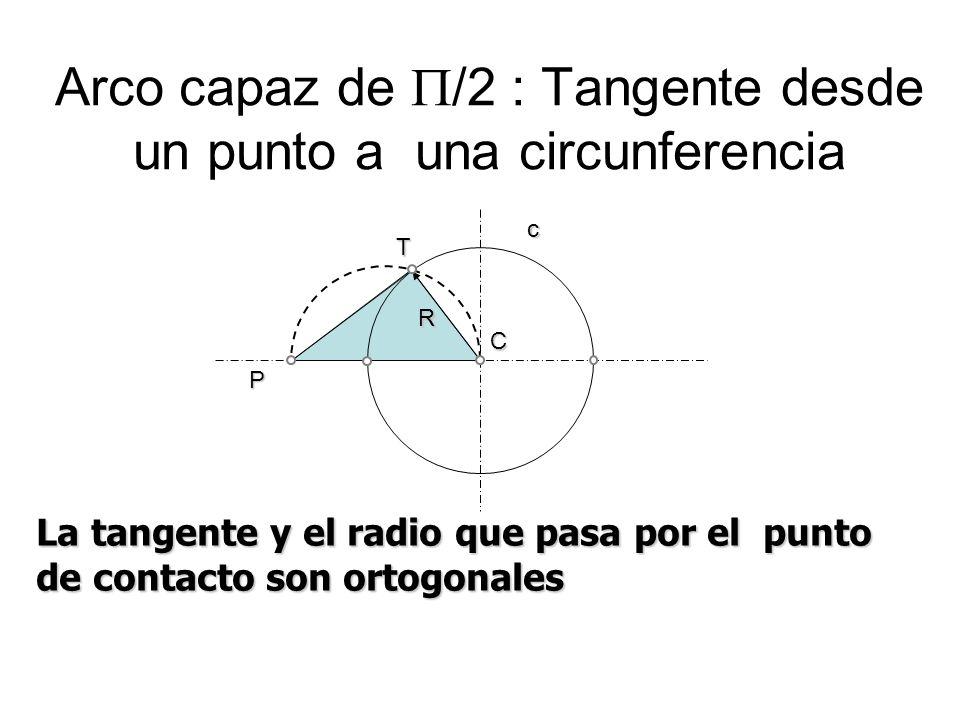 Arco capaz de /2 : Tangente desde un punto a una circunferencia