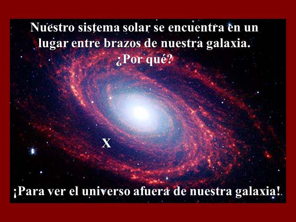 Nuestro sistema solar se encuentra en un lugar entre brazos de nuestra galaxia. ¿Por qué
