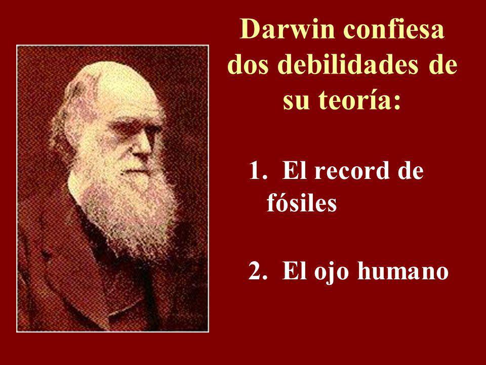 Darwin confiesa dos debilidades de su teoría: