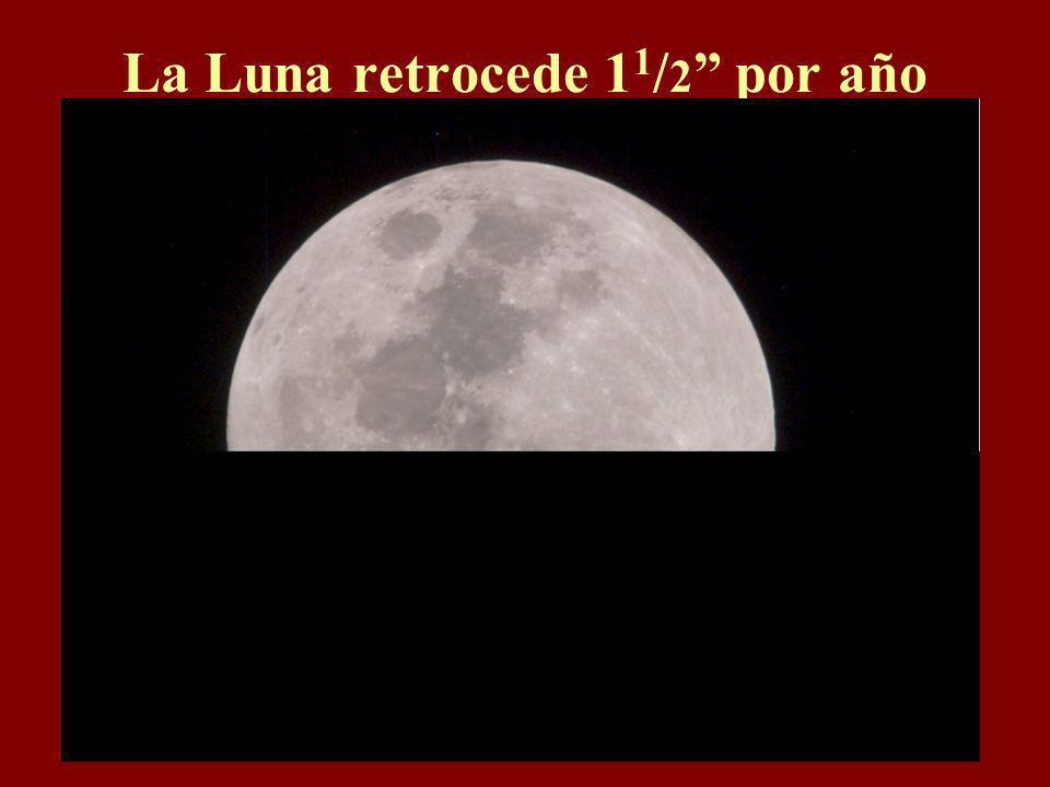 La Luna retrocede 11/2 por año
