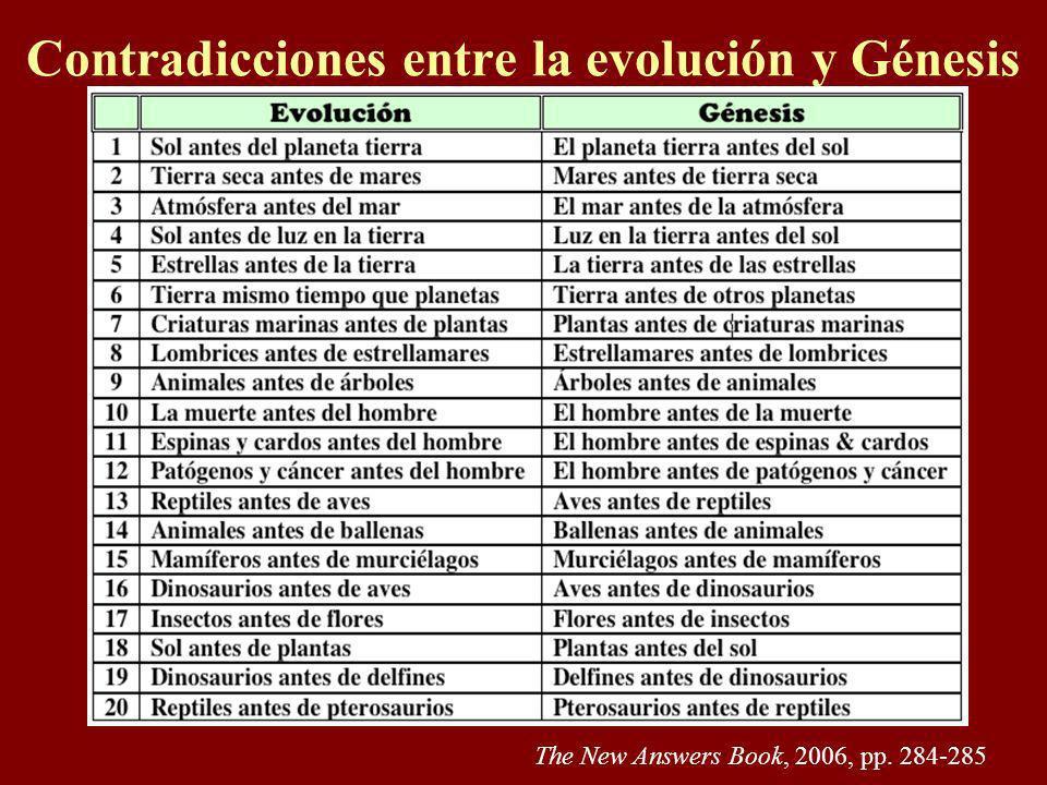 Contradicciones entre la evolución y Génesis