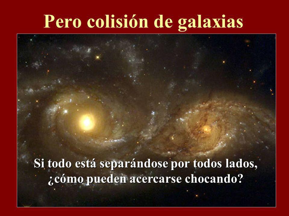 Pero colisión de galaxias