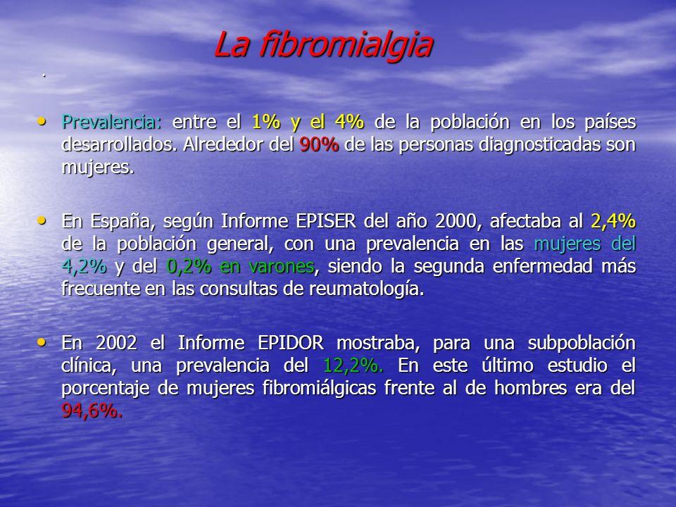 . La fibromialgia.
