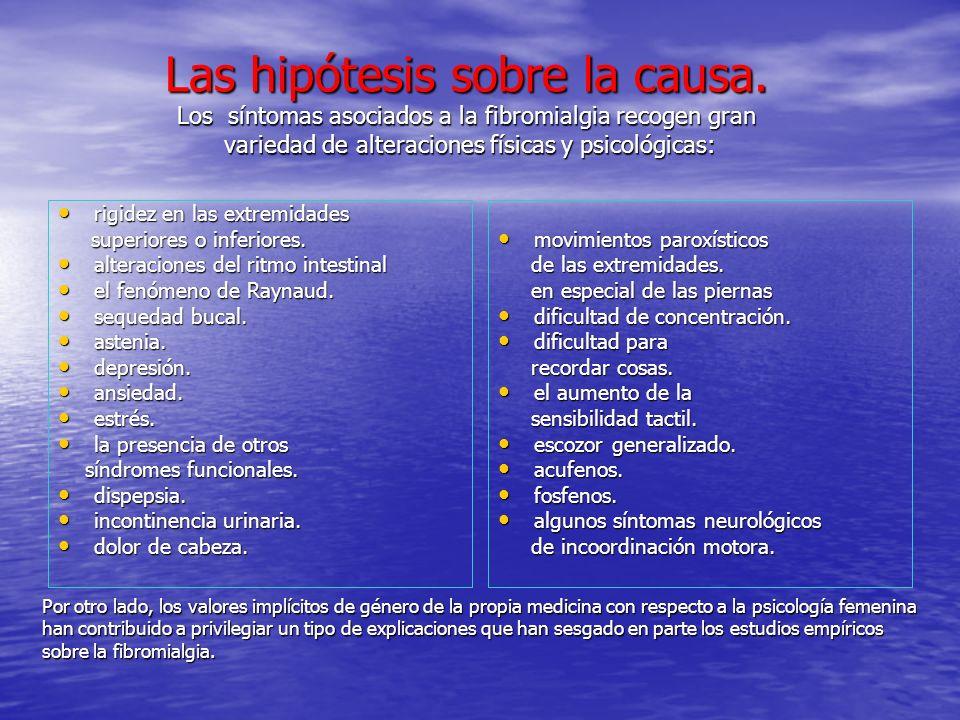 Las hipótesis sobre la causa
