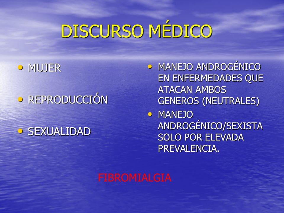 DISCURSO MÉDICO MUJER REPRODUCCIÓN SEXUALIDAD FIBROMIALGIA