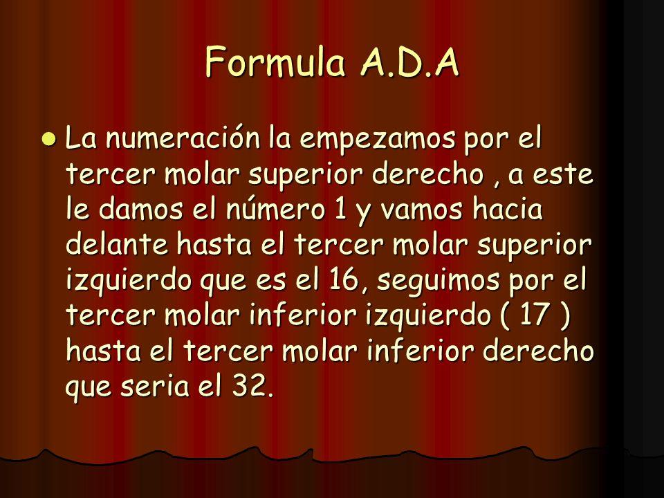 Formula A.D.A