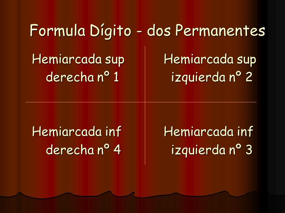Formula Dígito - dos Permanentes