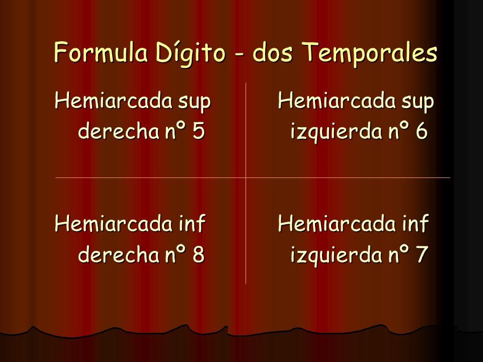 Formula Dígito - dos Temporales
