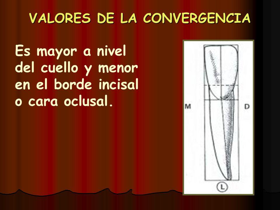 VALORES DE LA CONVERGENCIA