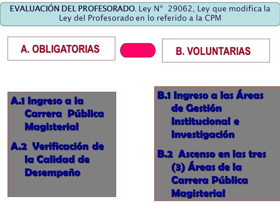 B.1 Ingreso a las Áreas de Gestión Institucional e Investigación