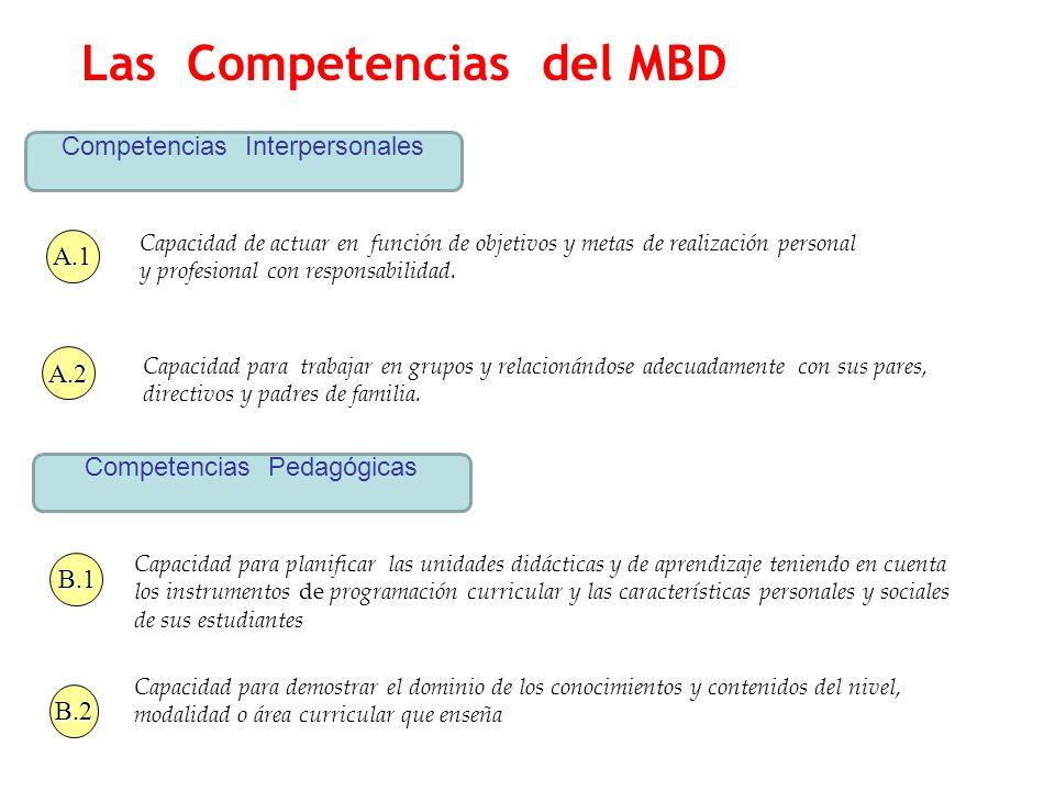 Las Competencias del MBD