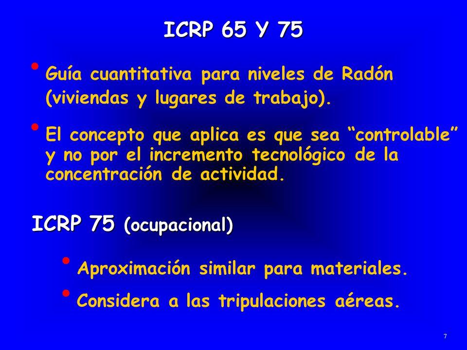 ICRP 65 Y 75 ICRP 75 (ocupacional)