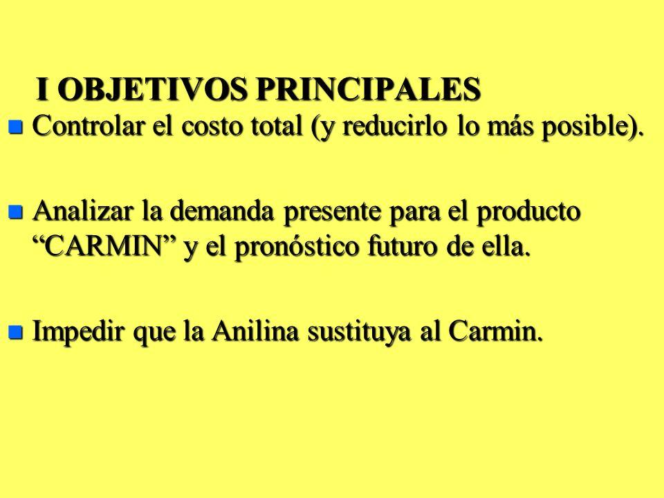 I OBJETIVOS PRINCIPALES