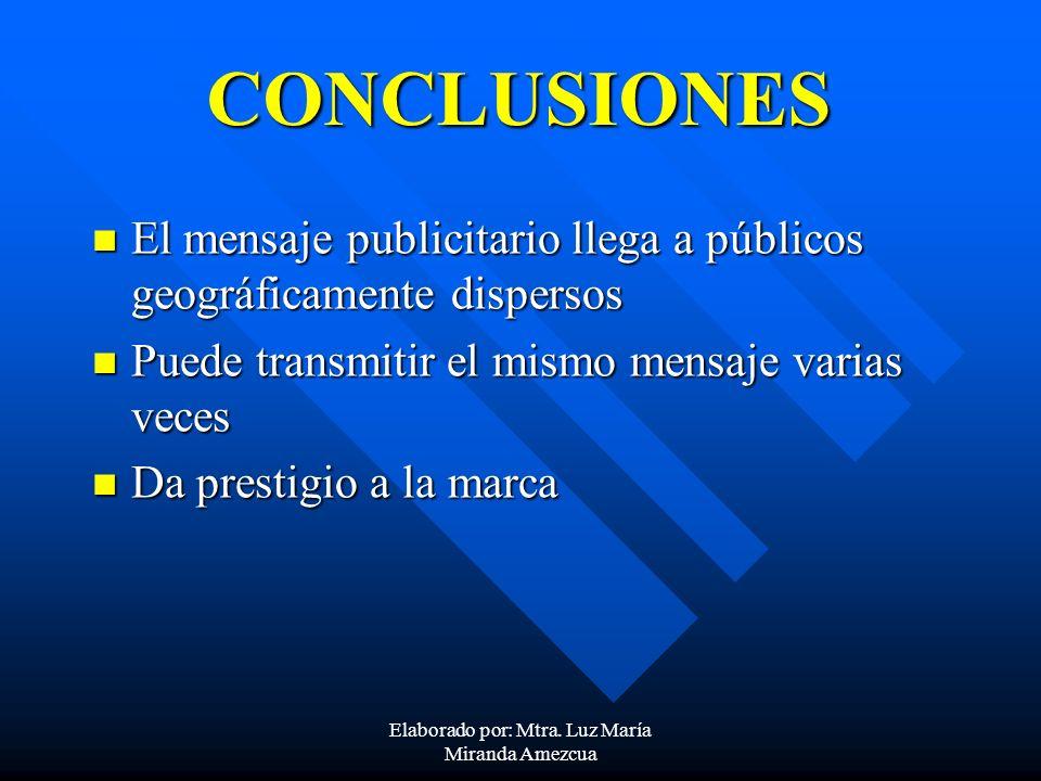Elaborado por: Mtra. Luz María Miranda Amezcua