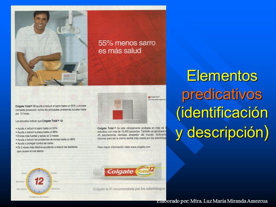 Elementos predicativos (identificación y descripción)