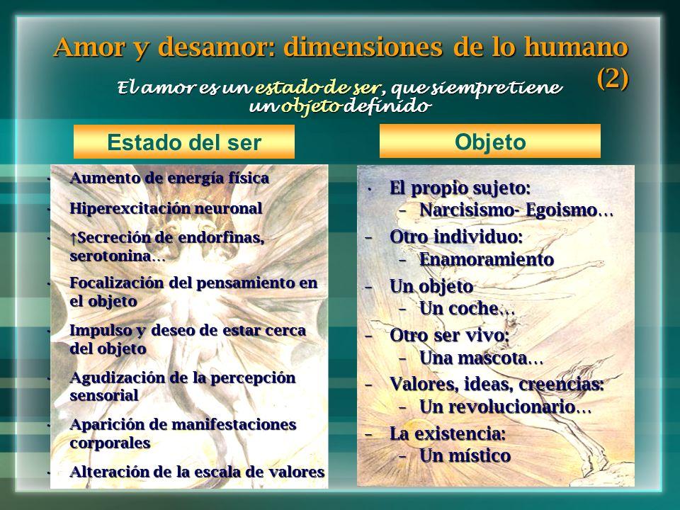 Amor y desamor: dimensiones de lo humano (2)